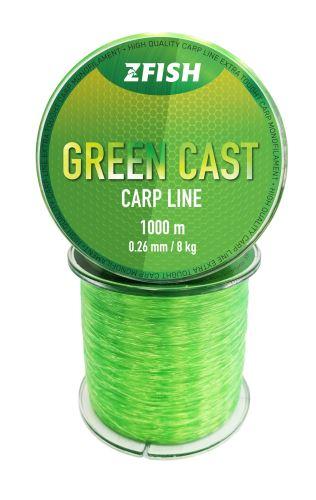 ZFISH Vlasec Green Cast Carp Line 1000m