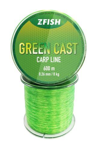 ZFISH Vlasec Green Cast Carp Line 600m